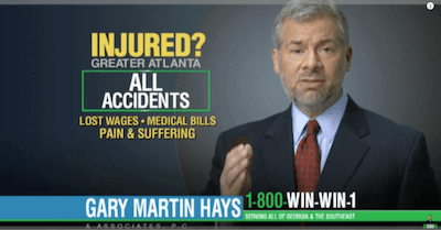 Law Offices of Gary Martin Hays Commercials